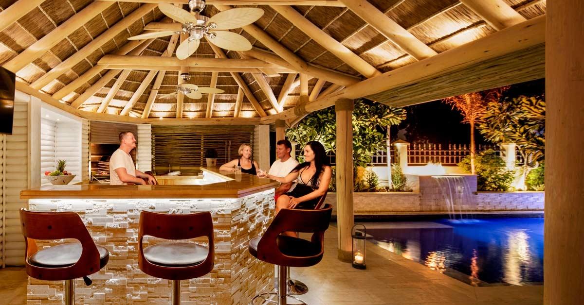 Un cenador de Cape Reed es el lugar perfecto para una reunión de familia