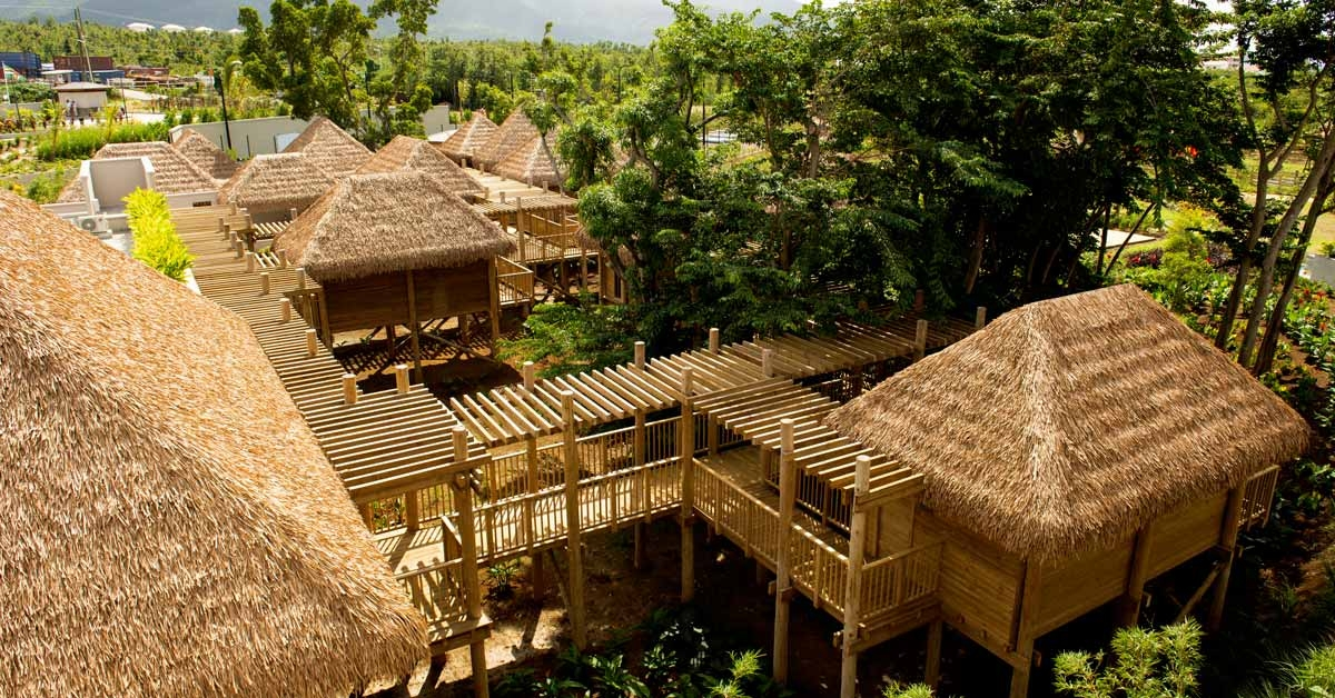 Cabañas con techos sinteticos en Cabrits Resort Kempinski Dominica