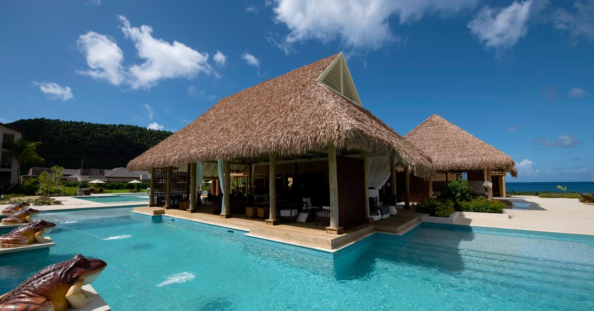 Cabaña con techo sintetico en Cabrits Resort Kempinski Dominica