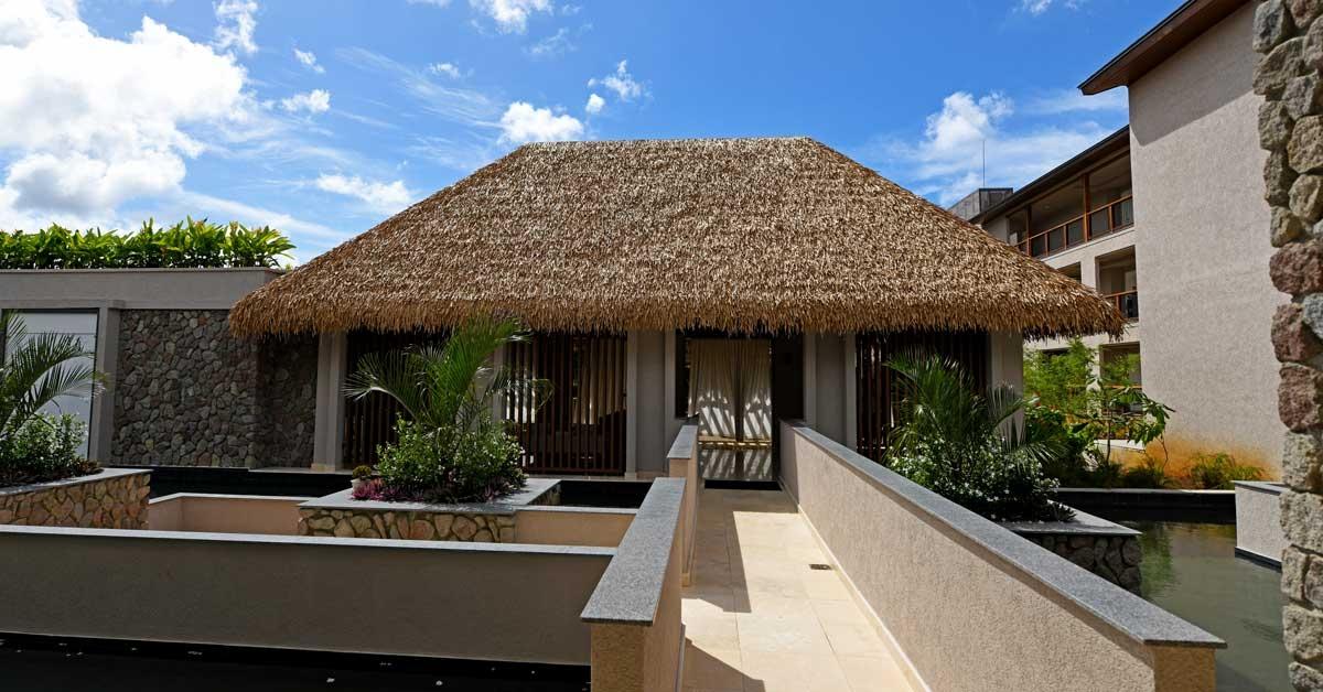 Chalet con techo sintetico en Cabrits Resort Kempinski Dominica
