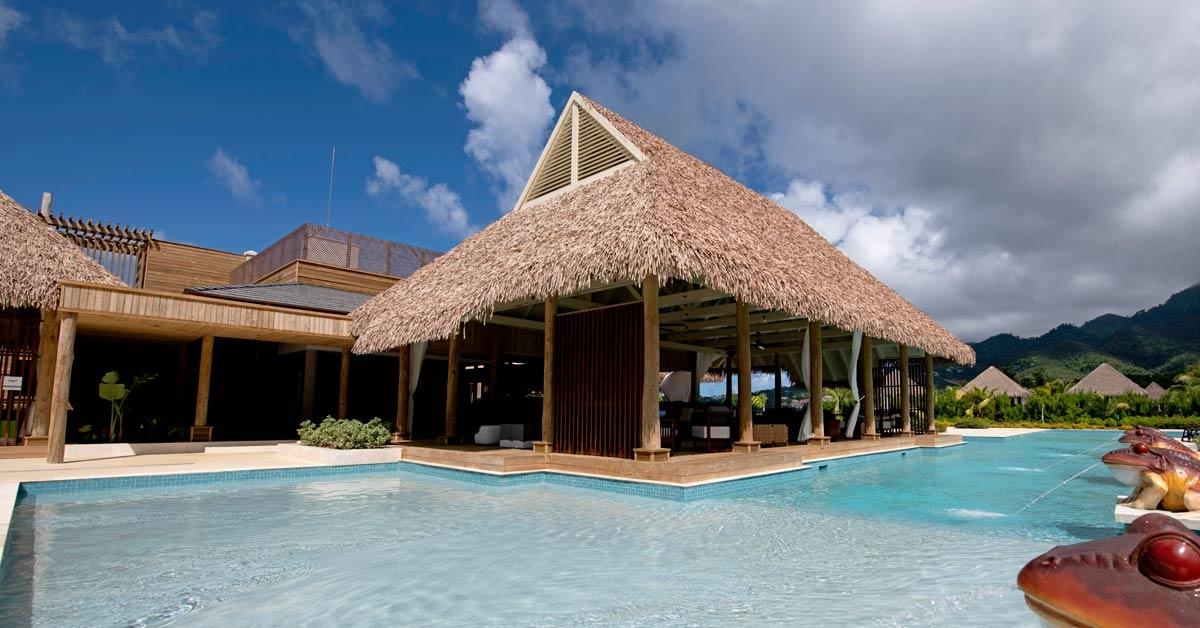 Techo sintetico en Cabrits Resort Kempinski Dominica