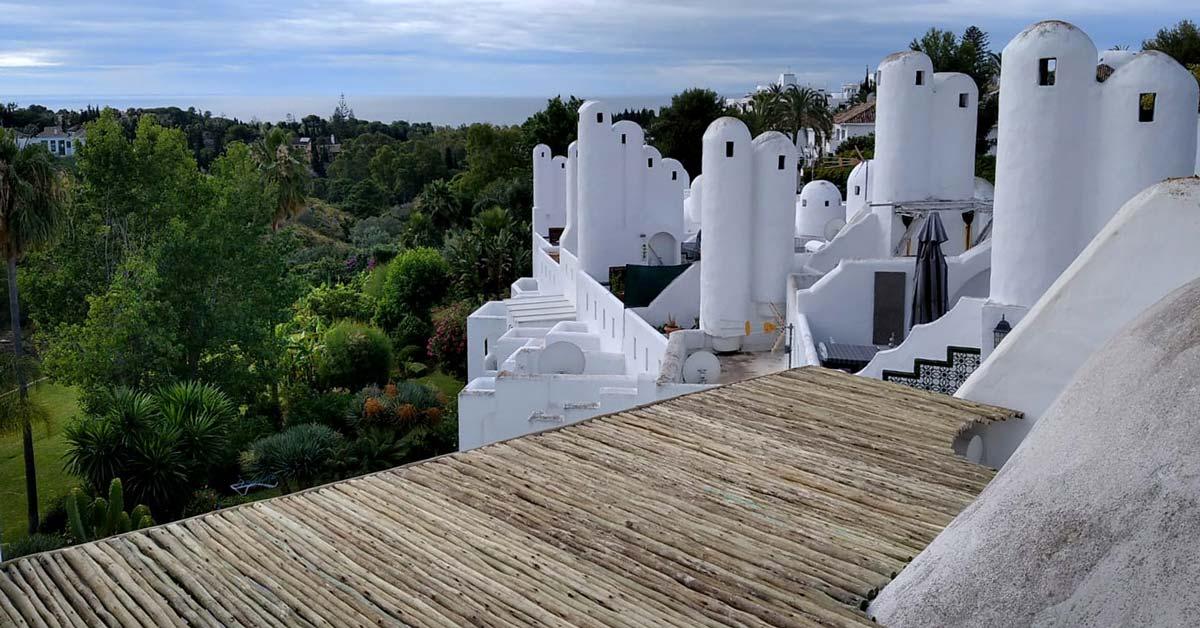 Vistas impresionantes desde la terraza de una casa particular en Marbella