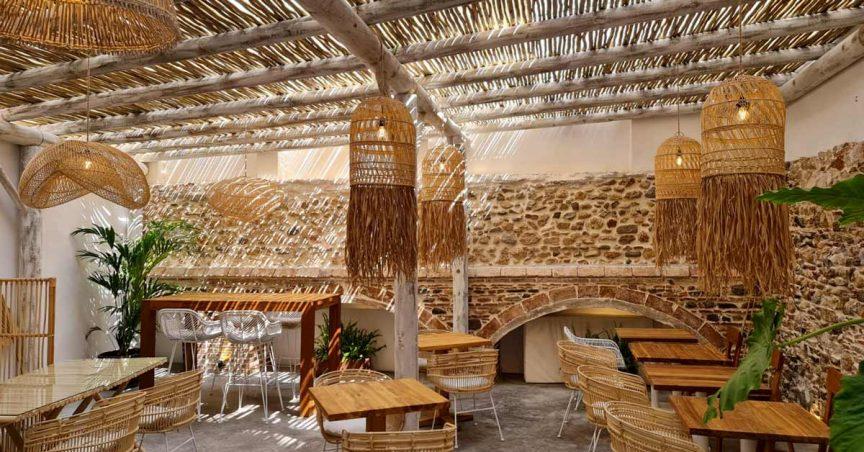 Vista Interior pergolas de madera por Cape Reed